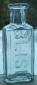 Blish Bottle, ca. late 1800's, early 1900's From the genealogical collection of C. B. Blish